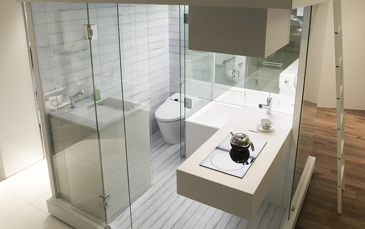 Sve u četiri kvadrata: tuš kabina, toalet i cela kuhinja