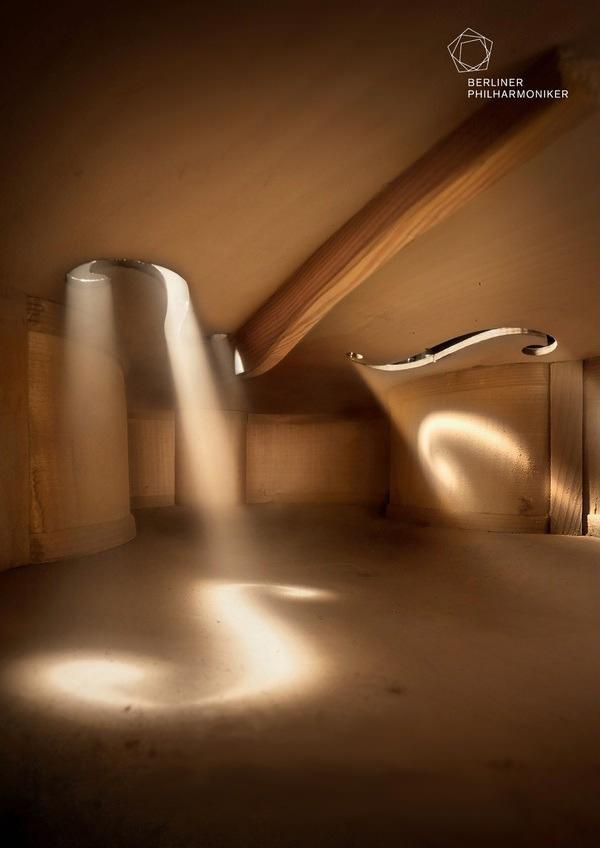 Ovo nije kuća, ovo je unutrašnjost violine