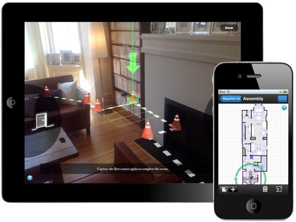 Nacrtajte osnovu prostora pomoću iPhonea ili iPada