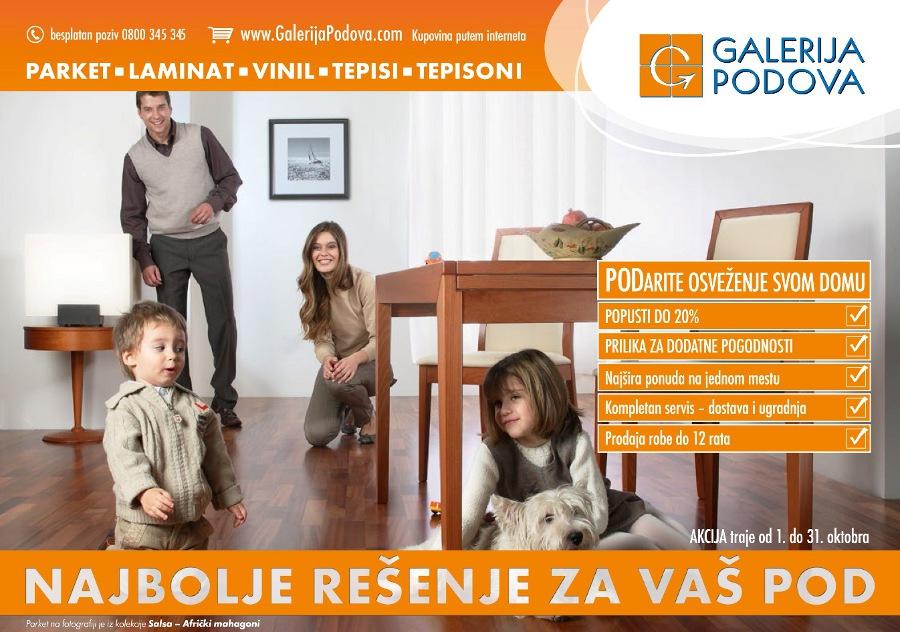 U Galeriji Podova popust do 20% tokom oktobra 2012.