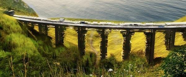 Gradnja stanova podno napuštenog mosta