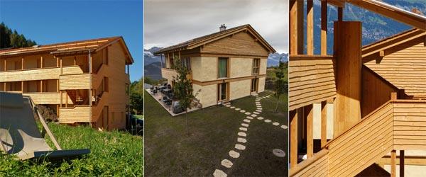 Hotel od balirane slame u Švajcarskoj