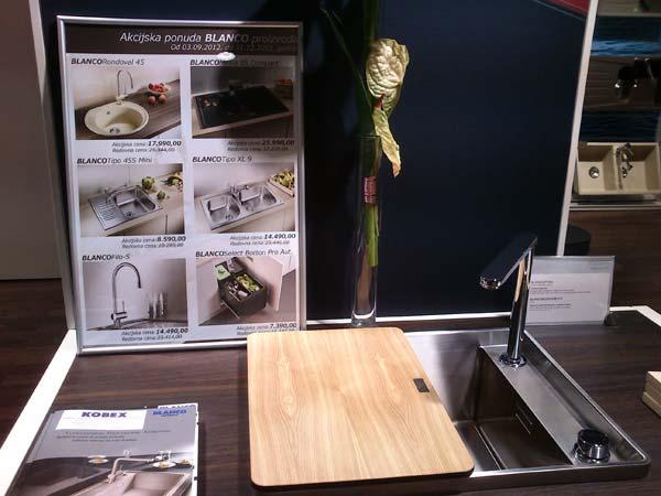 Sajam nameštaja 2012: Popusti za sudopere Blanco