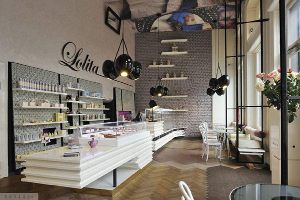Enterijer kafića Lolita u Ljubljani