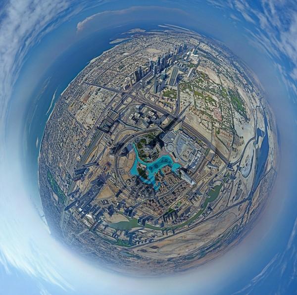 Panorama s najviše zgrade na svetu