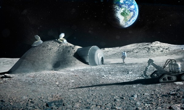 Fosterova ideja za gradnju baze na Mesecu