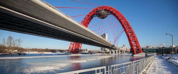 Najlepši ruski most s lučnim pilonom