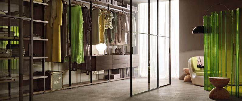 Walk-in garderoberi: konstrukcija i detalji