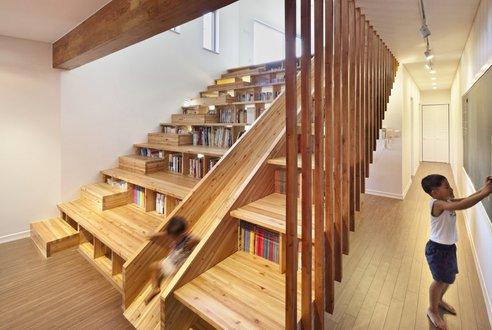 Multifunkcionalne stepenice: Biblioteka, tobogan i bioskop