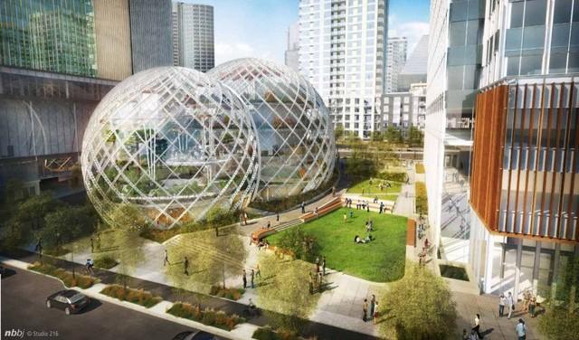 Amazon pod kupolama: Novo sedište u staklenoj sferi prečnika 30 metara