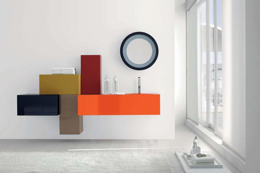 Nameštaj za kupatilo u jarkim bojama