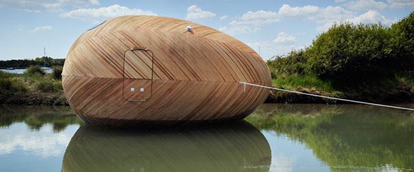 Jaje na vodi: Samoodrživa kuća-brod