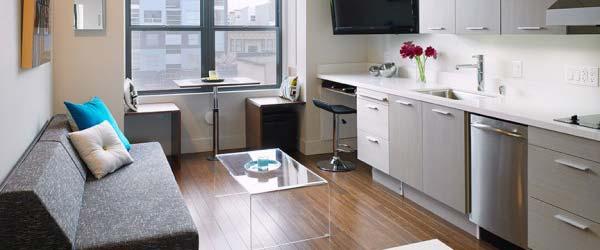 Mikro stan: Dnevna, spavaća, kuhinja, kupatilo i radna soba u 27 kvadrata