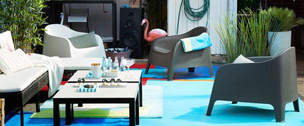 Ikein nameštaj za dvorišta: stolovi, suncobrani, solarna rasveta i tende