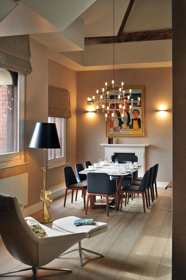 Uređenje potkrovlja: primer stana u Londonu