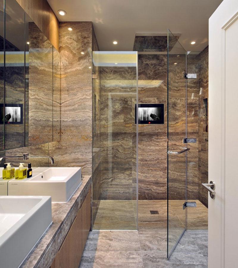 Amazing White Apartment Bathroom Ideas With Cool Lighting: Uređenje Potkrovlja: Primer Stana U Londonu