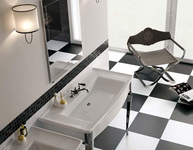 Kupatila sa crno belim pločicama