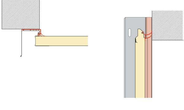 Dupli dihtunzi: sa dodatnim dihtunzima na bočnom graničniku (levo) i na gredi (desno) Hörmann-ova industrijska vrata još bolje zaptivaju