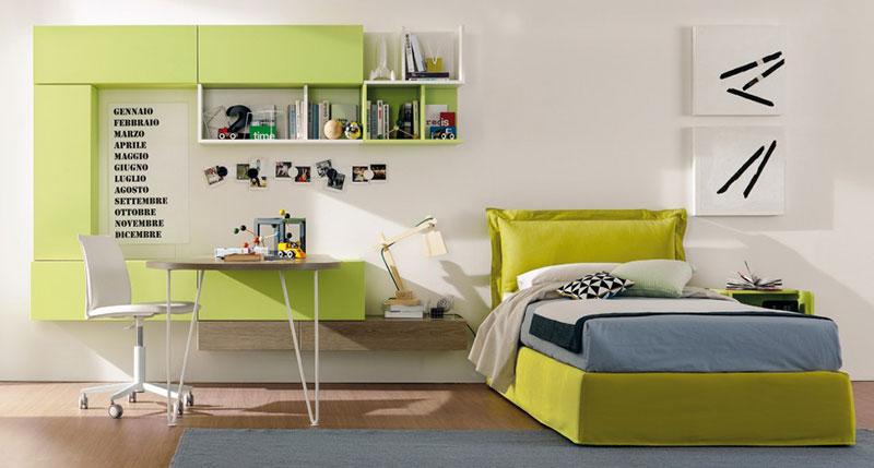 krevet-i-radni-sto-zelene-boje