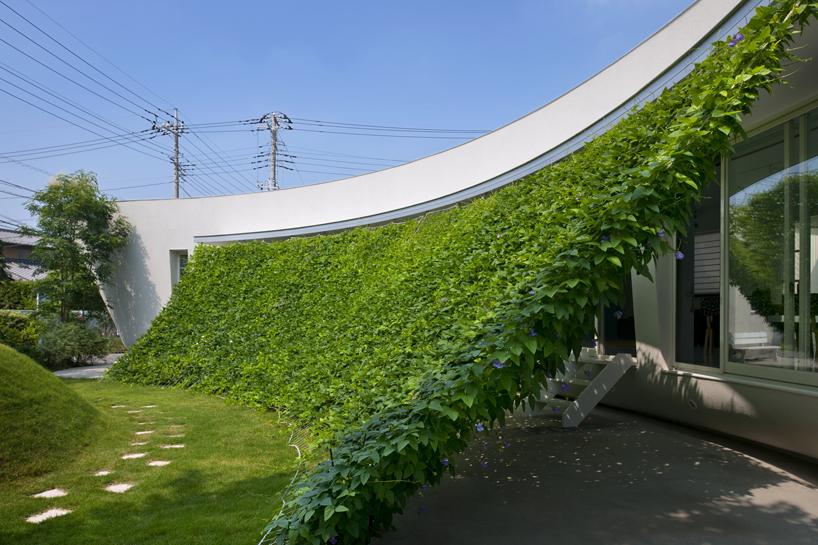 Japanska kuća rashlađena zelenim zaslonom
