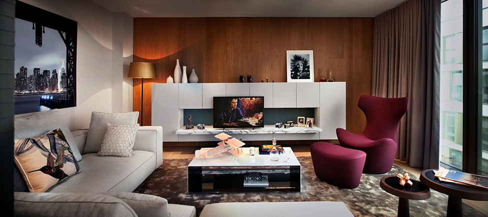 Otmen penthouse u londonu gradnja for Living room decorating ideas 2014