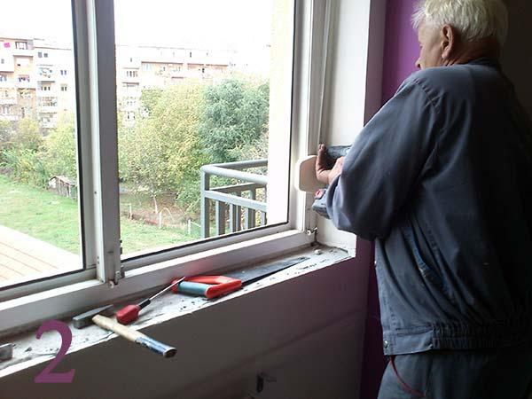 Postupak skidanja i montaže novih prozora