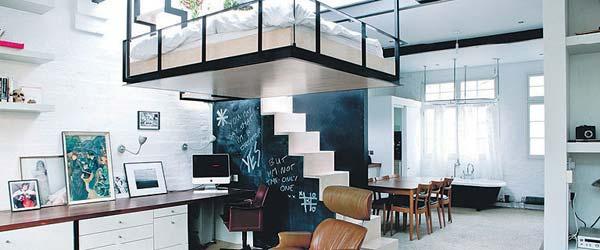 Spavaća soba u galeriji: Rešenje za male stanove