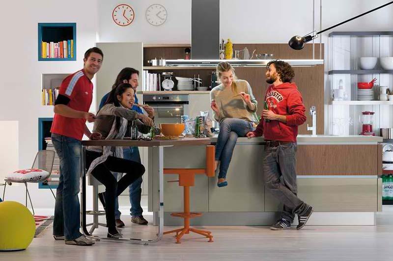 Mali stan: kuhinje po meri mladih