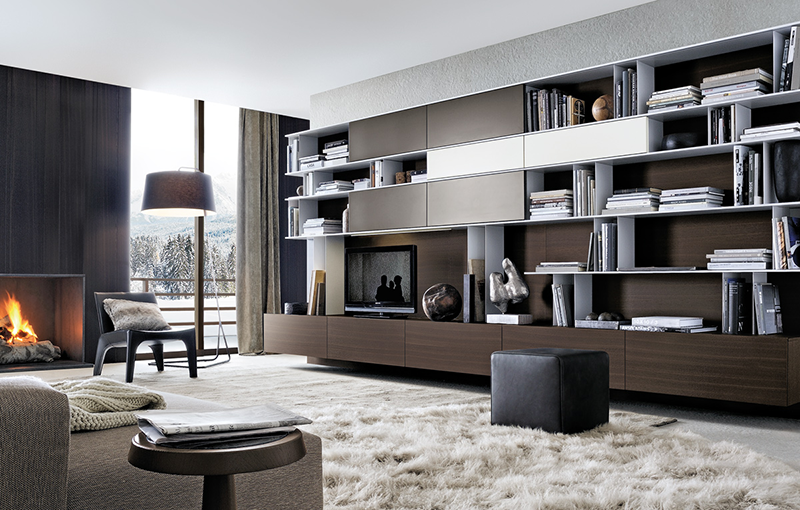 ure enje dnevne sobe prostor za knjige. Black Bedroom Furniture Sets. Home Design Ideas