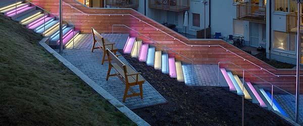 Svetleće stepenište kojim se rado penje