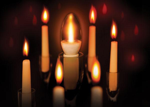 Sijalice koje verno oponašaju plamen sveće