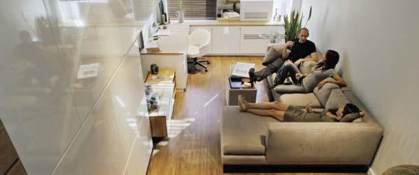 Kombinovano rešenje: Stan i kancelarija u 46 kvadrata