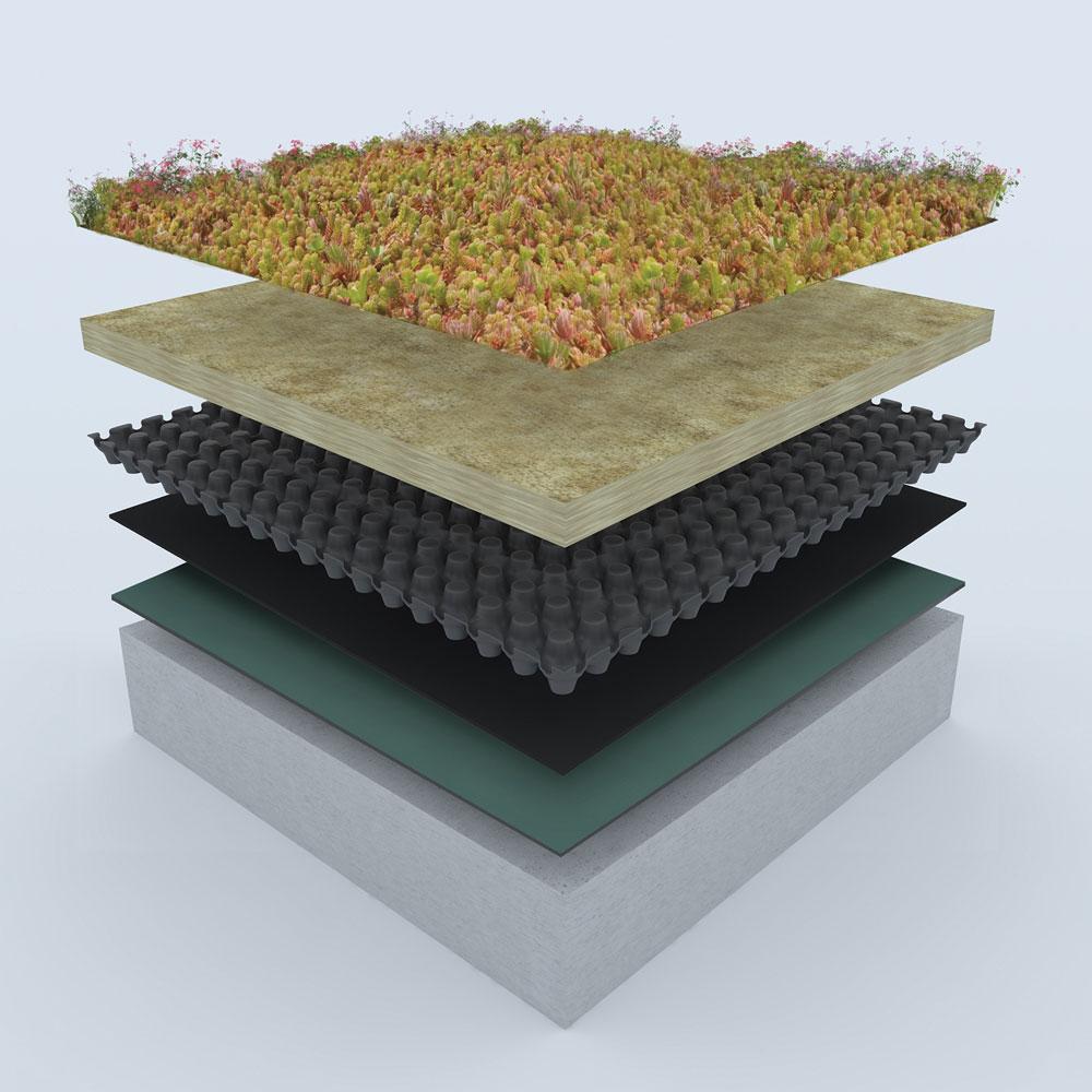 Urbanscape: Kamena vuna za zelene krovove