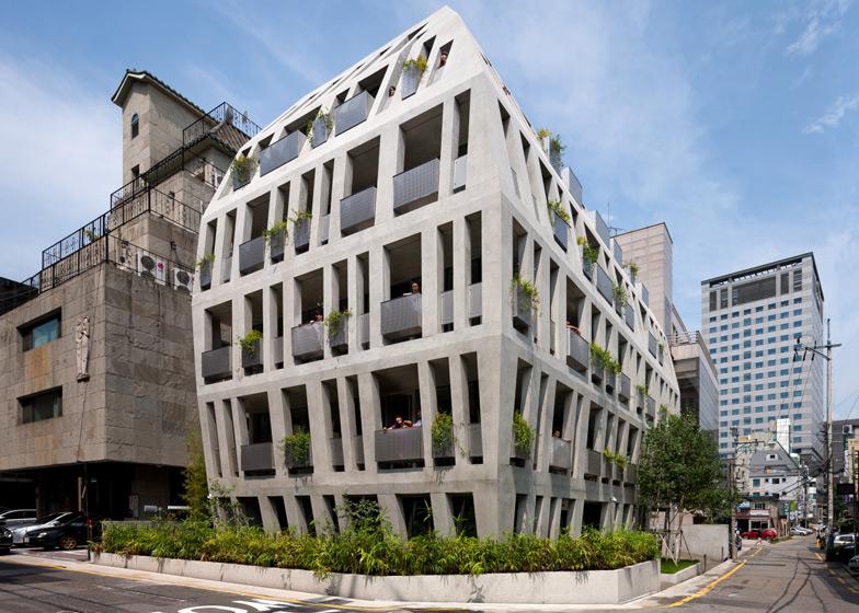 Naduvana zgrada u Seulu: Kako do kvadrata više