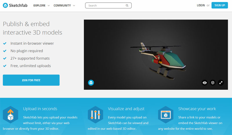 Sketchfab: Pregled 3D modela u browseru