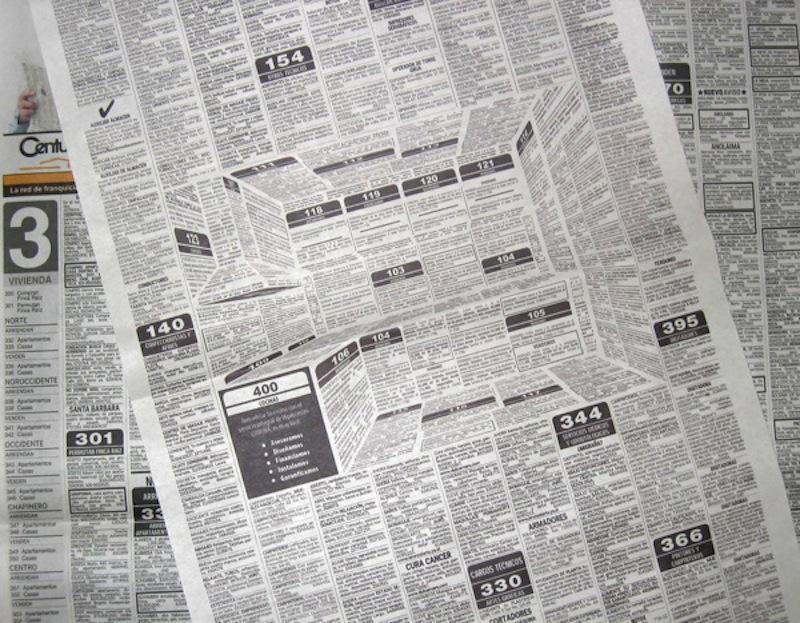 Genijalna 3D reklama za kuhinje u dnevnim novinama