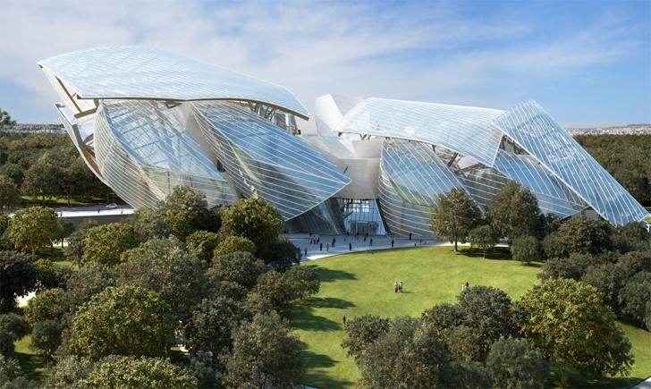 Sedište fondacije Luj Vitona izgleda kao oblak