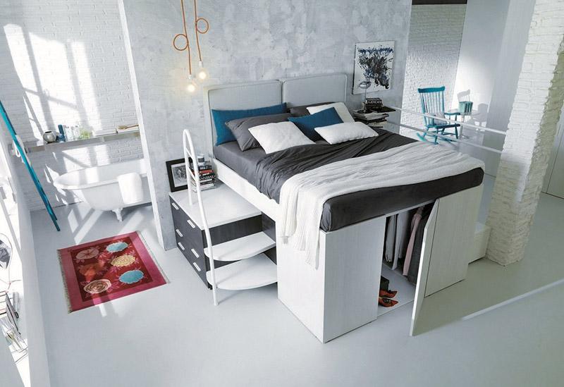 Pametna ideja: Garderober ispod podignutog kreveta