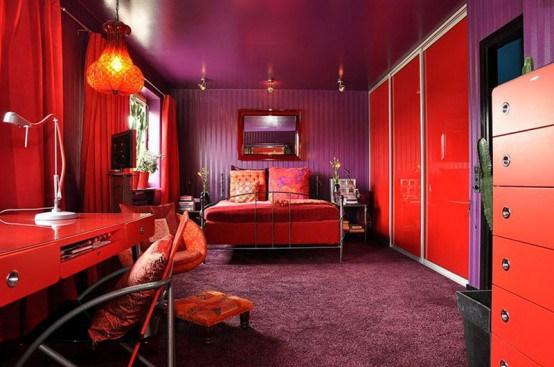 Enterijer švedskog stana u otkačenim bojama