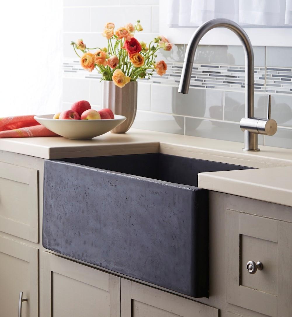 Natur stil: Betonske sudopere i umivaonici