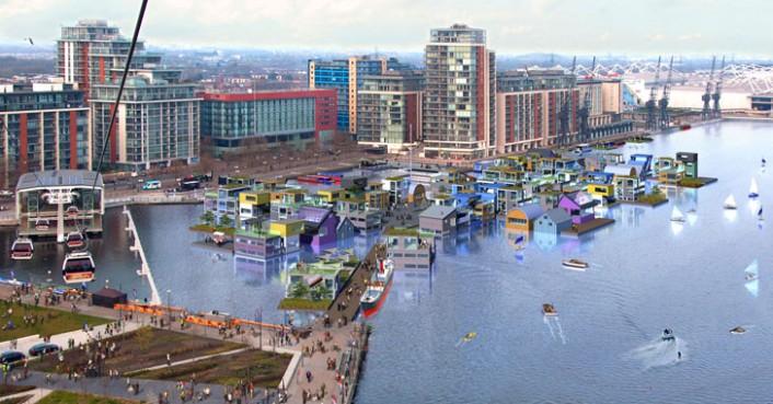 U Londonu se grade plutajuća sela