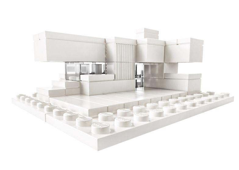 Monohromatske Lego kockice za arhitekte