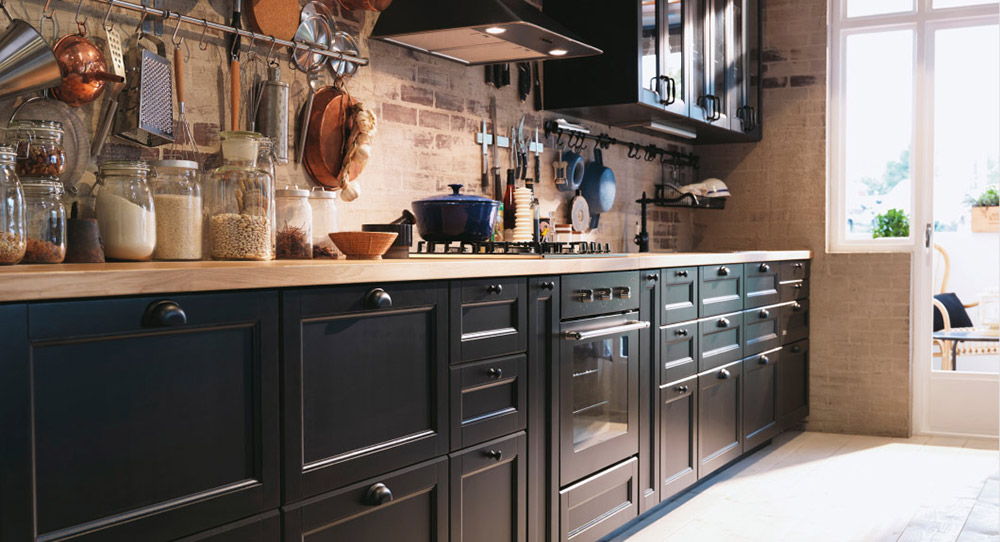 Ideje za crne, sive i bele kuhinje