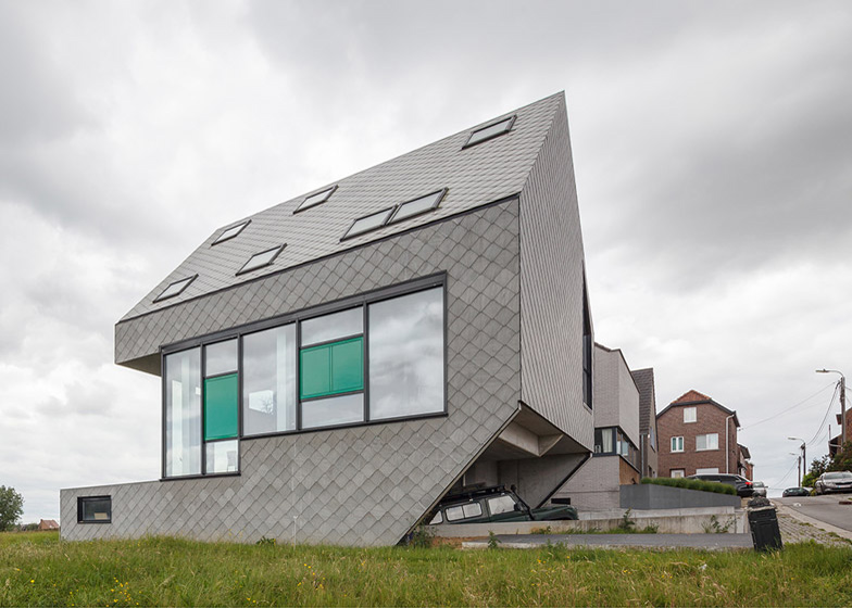 Pasivna kuća obložena fiber-cementnim pločama