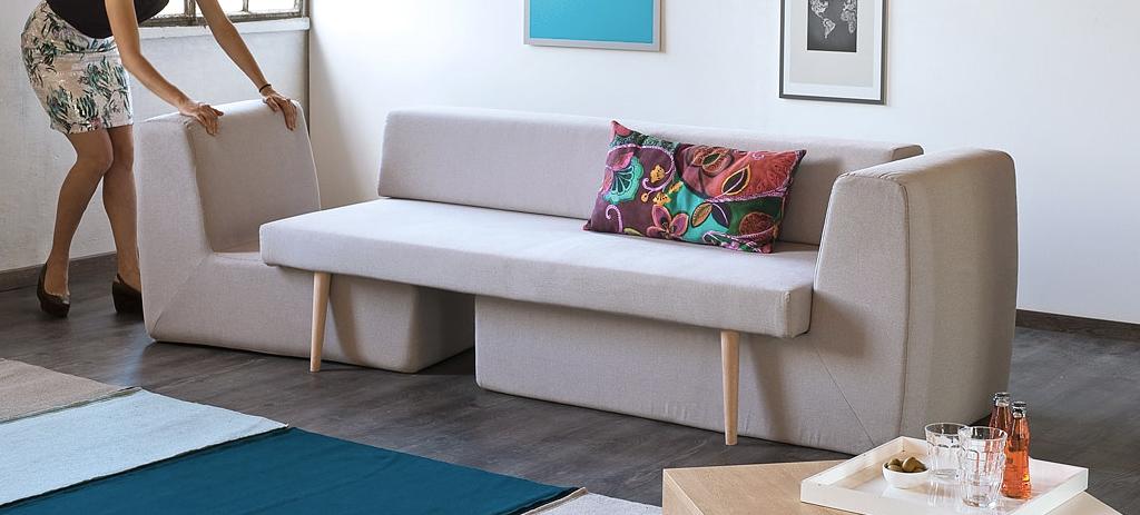 Modularna 3-u-1 sofa za male prostore