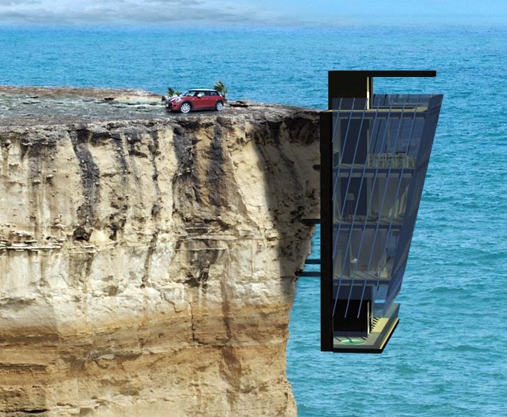 Samo za hrabre: Odvažno projektno rešenje kuće na litici