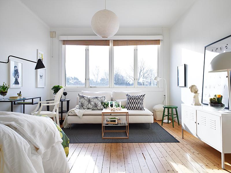 Jednosoban stan u Parizu sa zelenim detaljima
