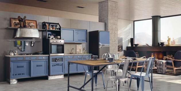 plava-retro-kuhinja