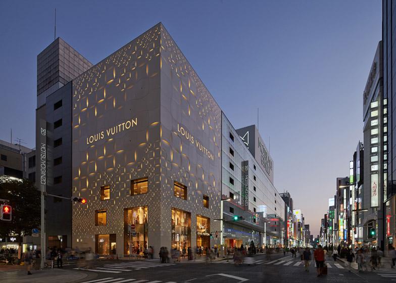 Perforirana fasada na Luj Viton radnji u Tokiju