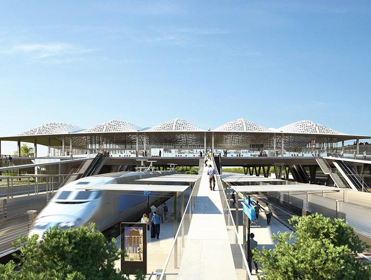 Ekološka krovna konstrukcija od betona i stakla za železničku stanicu